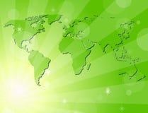 πράσινος λαμπρός ανασκόπη&sigm ελεύθερη απεικόνιση δικαιώματος