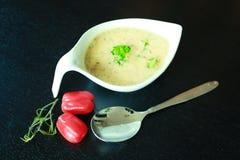 Πράσινος μαϊντανός γευμάτων ντοματών σούπας τροφίμων Στοκ Εικόνα