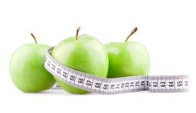 πράσινος μετρητής τρία μήλω&nu Στοκ Φωτογραφίες