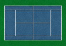 Πράσινος μπλε τομέας ποδοσφαίρου στοκ φωτογραφία με δικαίωμα ελεύθερης χρήσης
