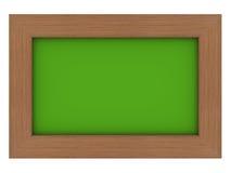 πράσινος ξύλινος πλαισίων Στοκ φωτογραφίες με δικαίωμα ελεύθερης χρήσης