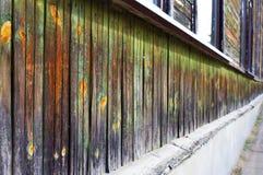 Πράσινος ξύλινος τοίχος στην προοπτική Στοκ Εικόνες