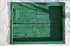 Πράσινος ξύλινος άσπρος τοίχος arrecife Lanzarote της Ισπανίας Στοκ φωτογραφίες με δικαίωμα ελεύθερης χρήσης