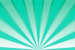 Πράσινος ουρανός με τις ακτίνες ελεύθερη απεικόνιση δικαιώματος