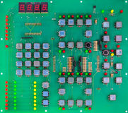 Πράσινος πίνακας κυκλωμάτων του υπολογιστή Στοκ Εικόνες