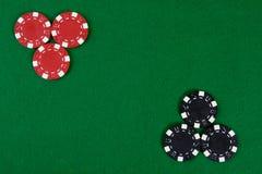 πράσινος πίνακας πόκερ τσι& Στοκ φωτογραφία με δικαίωμα ελεύθερης χρήσης