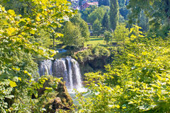 Πράσινος παράδεισος των καταρρακτών Rastoke στοκ φωτογραφία