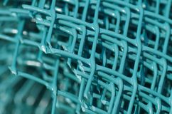 Πράσινος πλαστικός φράκτης Στοκ φωτογραφία με δικαίωμα ελεύθερης χρήσης