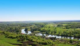 Πράσινος ποταμός κοιλάδων Στοκ Φωτογραφίες