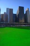 Πράσινος ποταμός του Σικάγου Στοκ εικόνες με δικαίωμα ελεύθερης χρήσης