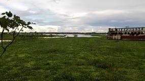πράσινος ποταμός Στοκ εικόνα με δικαίωμα ελεύθερης χρήσης