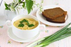 Πράσινος πουρές σούπας λαχανικών Στοκ Εικόνες