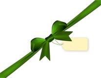 Πράσινος που απομονώνεται σε ένα άσπρο υπόβαθρο με τη τιμή Στοκ Φωτογραφία