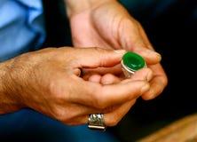 Πράσινος πολύτιμος λίθος - κόσμημα Στοκ Εικόνες
