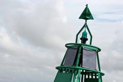 Πράσινος πλευρικός σημαντήρας στοκ φωτογραφία