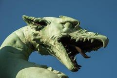 Πράσινος δράκος στο Λουμπλιάνα Στοκ φωτογραφίες με δικαίωμα ελεύθερης χρήσης