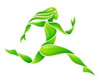 Πράσινος δρομέας απεικόνιση αποθεμάτων