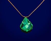 πράσινος σάπφειρος κοσμήματος στοκ εικόνες