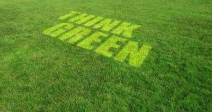 πράσινος σκεφτείτε Στοκ εικόνες με δικαίωμα ελεύθερης χρήσης