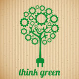 πράσινος σκεφτείτε διανυσματική απεικόνιση