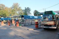 Πράσινος σταθμός μικρών λεωφορείων στο Χογκ Κογκ Στοκ εικόνα με δικαίωμα ελεύθερης χρήσης