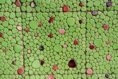 Πράσινος τοίχος μωσαϊκών Στοκ εικόνα με δικαίωμα ελεύθερης χρήσης