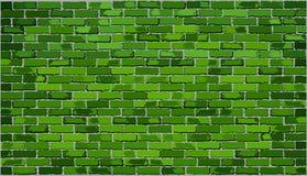 πράσινος τοίχος τούβλου απεικόνιση αποθεμάτων