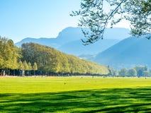 Πράσινος τομέας στο Annecy, Γαλλία Στοκ Εικόνα