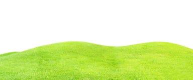 Πράσινος τομέας χλόης που απομονώνεται στο λευκό Στοκ φωτογραφία με δικαίωμα ελεύθερης χρήσης