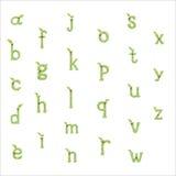 Πράσινος τύπος χαρακτήρων φύλλων Στοκ φωτογραφία με δικαίωμα ελεύθερης χρήσης