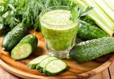 Πράσινος φυτικός χυμός στοκ εικόνες με δικαίωμα ελεύθερης χρήσης