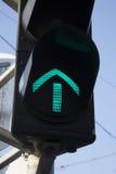 πράσινος φωτεινός σηματοδότης βελών Στοκ εικόνες με δικαίωμα ελεύθερης χρήσης