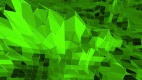 Πράσινος χαμηλός πολυ κυματισμός υποβάθρου Αφηρημένη χαμηλή πολυ επιφάνεια ως χημικό περιβάλλον στο μοντέρνο χαμηλό πολυ σχέδιο διανυσματική απεικόνιση
