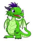 Πράσινος χαριτωμένος δράκος ελεύθερη απεικόνιση δικαιώματος
