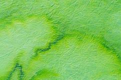 Πράσινος χρωματισμένος ιστός εγγράφου Στοκ φωτογραφία με δικαίωμα ελεύθερης χρήσης
