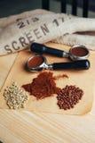 Πράσινος, ψημένος, έδαφος και στιγμιαίος καφές στοκ φωτογραφία με δικαίωμα ελεύθερης χρήσης