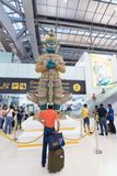 Πράσινο άγαλμα δαιμόνων στον αερολιμένα της Μπανγκόκ Στοκ Εικόνες