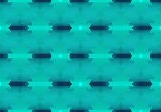 Πράσινο άνευ ραφής γεωμετρικό αφηρημένο σχέδιο μωσαϊκών Στοκ Εικόνες