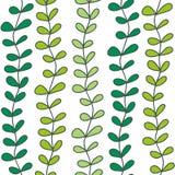 Πράσινο άνευ ραφής σχέδιο κλάδων Στοκ εικόνα με δικαίωμα ελεύθερης χρήσης