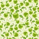 Πράσινο άνευ ραφής σχέδιο μήλων Στοκ Φωτογραφίες