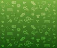 Πράσινο άνευ ραφής υπόβαθρο ποδοσφαίρου διανυσματική απεικόνιση