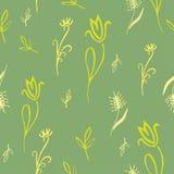 Πράσινο άνευ ραφής floral σχέδιο - απεικόνιση Στοκ Φωτογραφίες