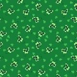 Πράσινο άνευ ραφής pattrn τριφυλλιού υποβάθρου Στοκ Εικόνα