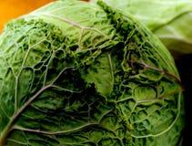 Πράσινο λάχανο με τη λεπτομέρεια φύλλων Στοκ φωτογραφίες με δικαίωμα ελεύθερης χρήσης