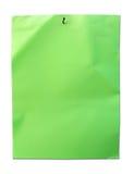 πράσινο έγγραφο καρφιών Στοκ Εικόνες