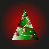 πράσινο δέντρο Χριστουγέννων Στοκ Εικόνα