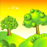Πράσινο δέντρο Στοκ εικόνα με δικαίωμα ελεύθερης χρήσης