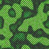 Πράσινο δέρμα φιδιών textur άνευ ραφής Στοκ Φωτογραφίες