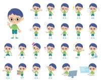 Πράσινο αγόρι γυαλιών ιματισμού Στοκ Εικόνες