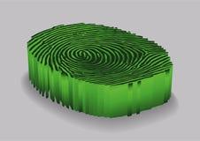Πράσινο δακτυλικό αποτύπωμα όμορφο διάνυσμα απεικόνισης σχεδίου ανασκόπησης Στοκ εικόνα με δικαίωμα ελεύθερης χρήσης